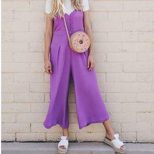 Free People Purple Jumpsuit